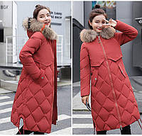Женский длинный теплый зимний пуховик пальто Элис размер 42 и 46