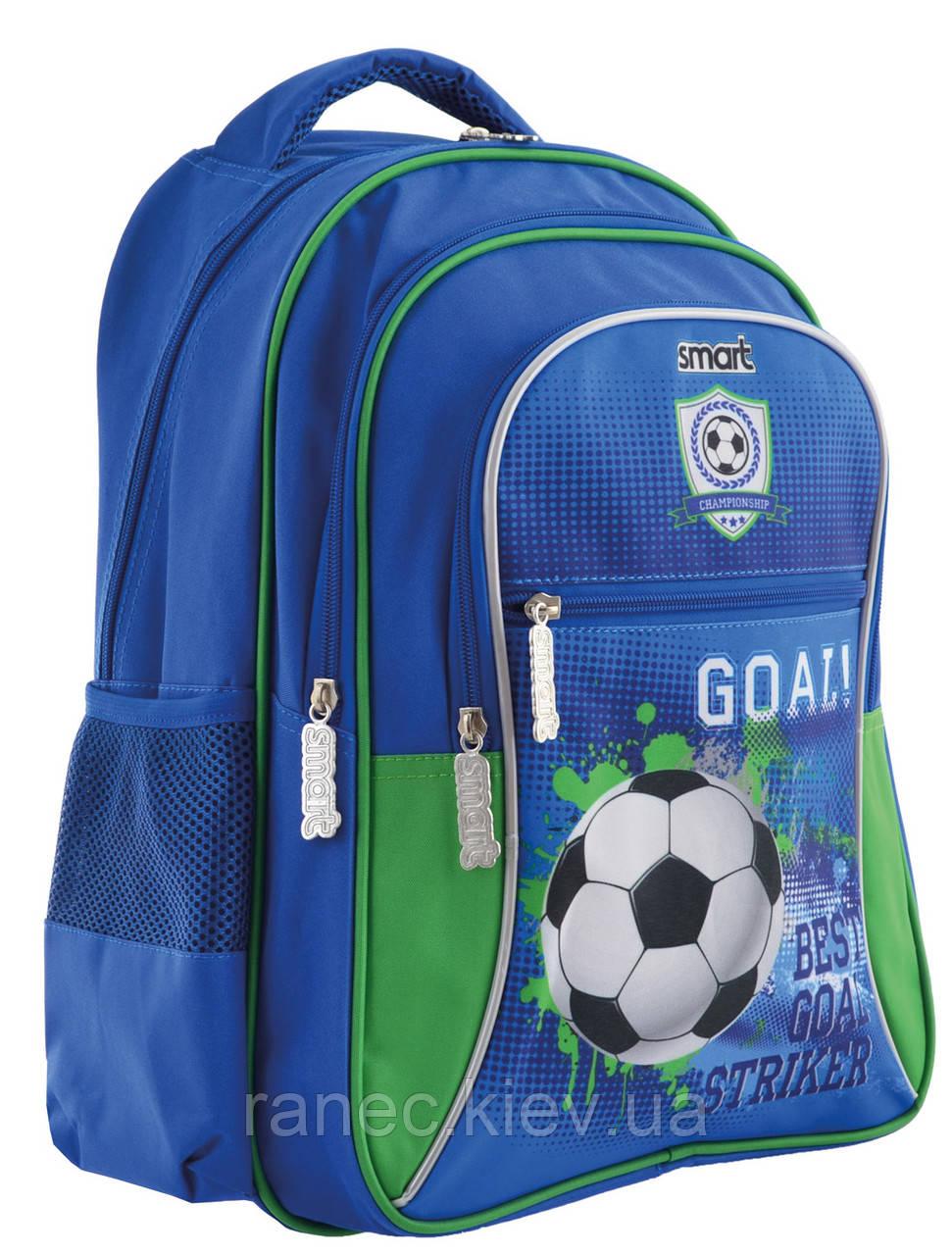 Рюкзак школьный для мальчика Футбол ZZ-03 Goal 556825 Smart