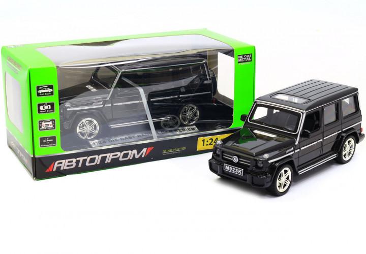 Машина Автопром Мерседес Бенц (Mercedes-Benz)- Чорний глянець, метал Модель гелендваген
