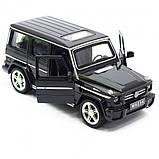 Машина Автопром Мерседес Бенц (Mercedes-Benz)- Чорний глянець, метал Модель гелендваген, фото 3