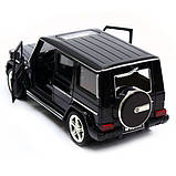 Машина Автопром Мерседес Бенц (Mercedes-Benz)- Чорний глянець, метал Модель гелендваген, фото 4