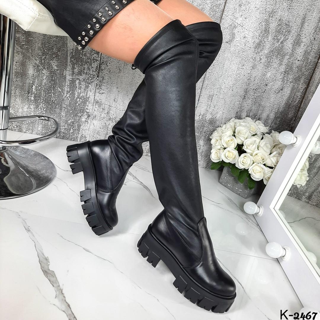 Стрейчеві ботфорти - Sonya матеріал: натуральна шкіра(низ чобота)