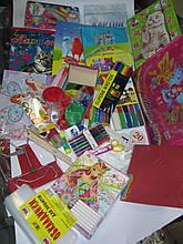 Комплект первоклассника для девочки набор канцелярии премиум школьный KOMP1DPRE