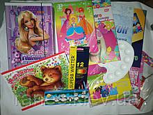 Комплект первоклассника для девочки набор канцелярии эконом KOMP1DEKON