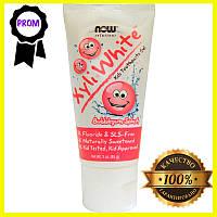 Детская зубная гель-паста,Now Foods, Solutions, XyliWhite, со вкусом жевательной резинки, 85 г (3 унции)