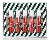 Матовая жидкая губная помада Kylie Spice, 5 штук в наборе Кайли, фото 1