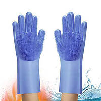 Силиконовые многофункциональные перчатки для мытья и чистки Magic Silicone Gloves, фото 1