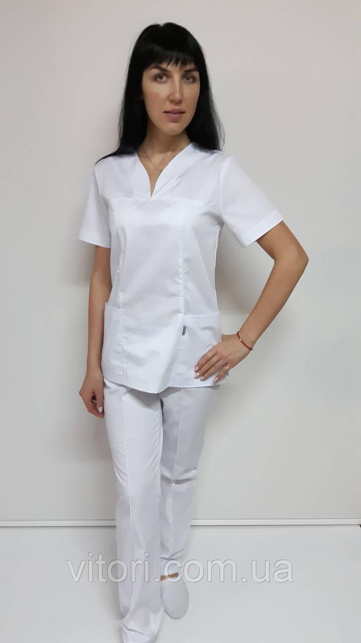 Костюм женский медицинский  Кенди стрейч-коттон короткий рукав