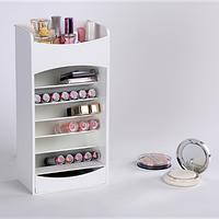 Компактный органайзер - шкафчик для хранения косметики COSMAKE LIPSTICK & NAIL POLISH ORGANIZER Розовый