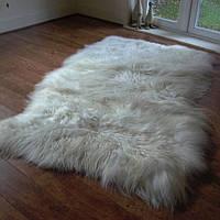 Килим з 3-х овечих шкур з довгою шерстю