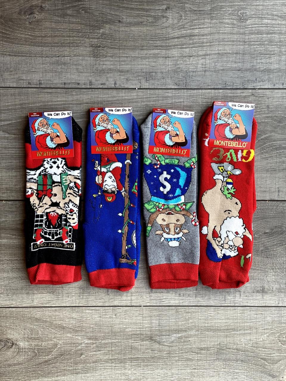 Чоловічі  новорічні шкарпетки Montebello 41-44 12 шт