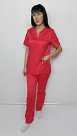 Костюм женский медицинский  Кенди стрейч-коттон короткий рукав, фото 1