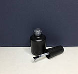 Флакон с кисточкой черный (бутылочка стекло) 15 мл., фото 4