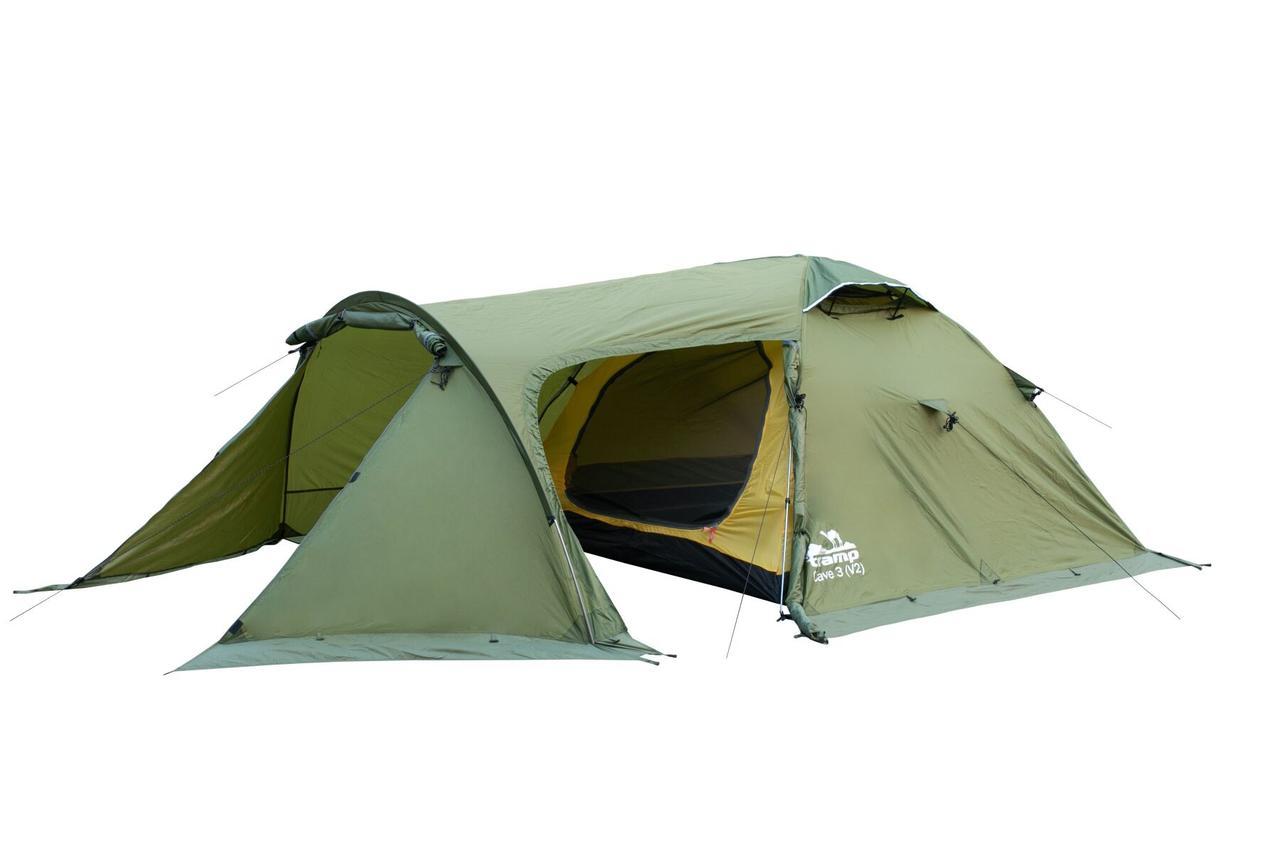 Палатка Tramp Cave 3 (V2) Зеленая
