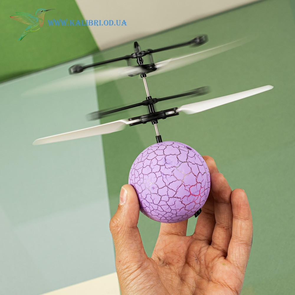 """Летающий, светящийся шар, мяч """"Flying Ball"""" JM-888 светло фиолетовый"""