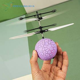 """Літаючий, світна куля, м'яч """"Flying Ball"""" JM-888 світло фіолетовий"""