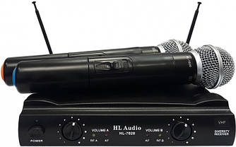 HL AUDIO HL7020 Радіосистема VHF 178,5-186,5 мГц., два ручних мікрофони