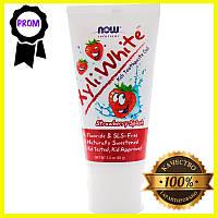 Now Foods, Solutions, XyliWhite, зубная гель-паста для детей, клубничный вкус, 85 г (3 унции)