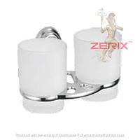 Стакан для зубных щеток двойной ZERIX LR1508