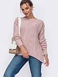 ХS-М  Ажурный свитер с асимметричным низом, фото 4