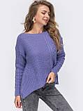 ХS-М  Ажурный свитер с асимметричным низом, фото 7