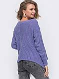 ХS-М  Ажурный свитер с асимметричным низом, фото 8