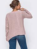 ХS-М  Ажурный свитер с асимметричным низом, фото 5