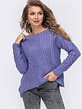 ХS-М  Ажурный свитер с асимметричным низом, фото 6