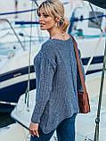 ХS-М  Ажурный свитер с асимметричным низом, фото 3
