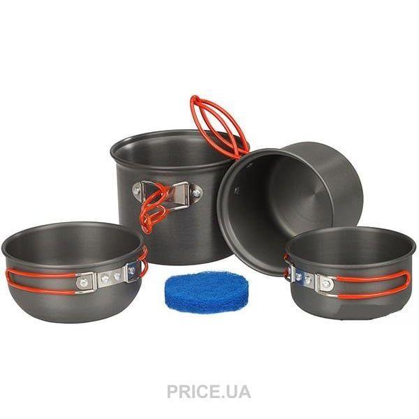 Набор посуды анодированной на 1-2 персоны Tramp TRC-075