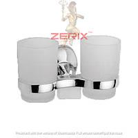 Стакан для зубных щеток двойной ZERIX LR3308