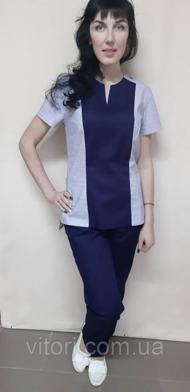 Костюм жіночий медичний Престиж стрейч-котон короткий рукав