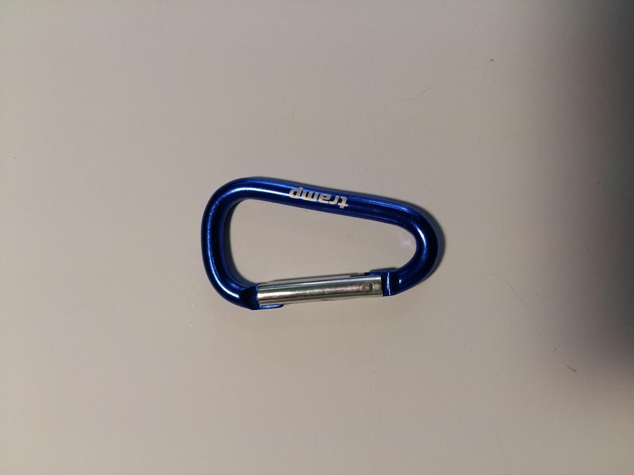 Карабин Tramp алюминиевый, размер 5 см, без муфты, голубой арт.TRA-058