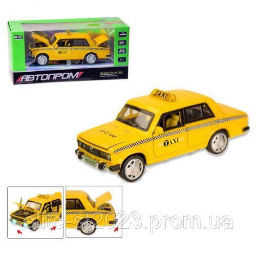"""Машинка """"ВАЗ 2106 Таксі"""" із серії """"Автопром"""" 7643"""