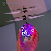 """Летающий, светящийся шар, мяч """"Flying Ball"""" JM-888 фиолетовый, фото 2"""