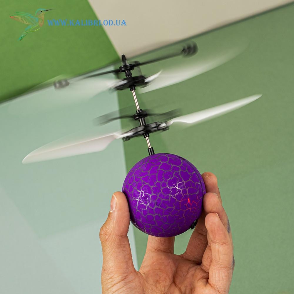 """Летающий, светящийся шар, мяч """"Flying Ball"""" JM-888 фиолетовый"""