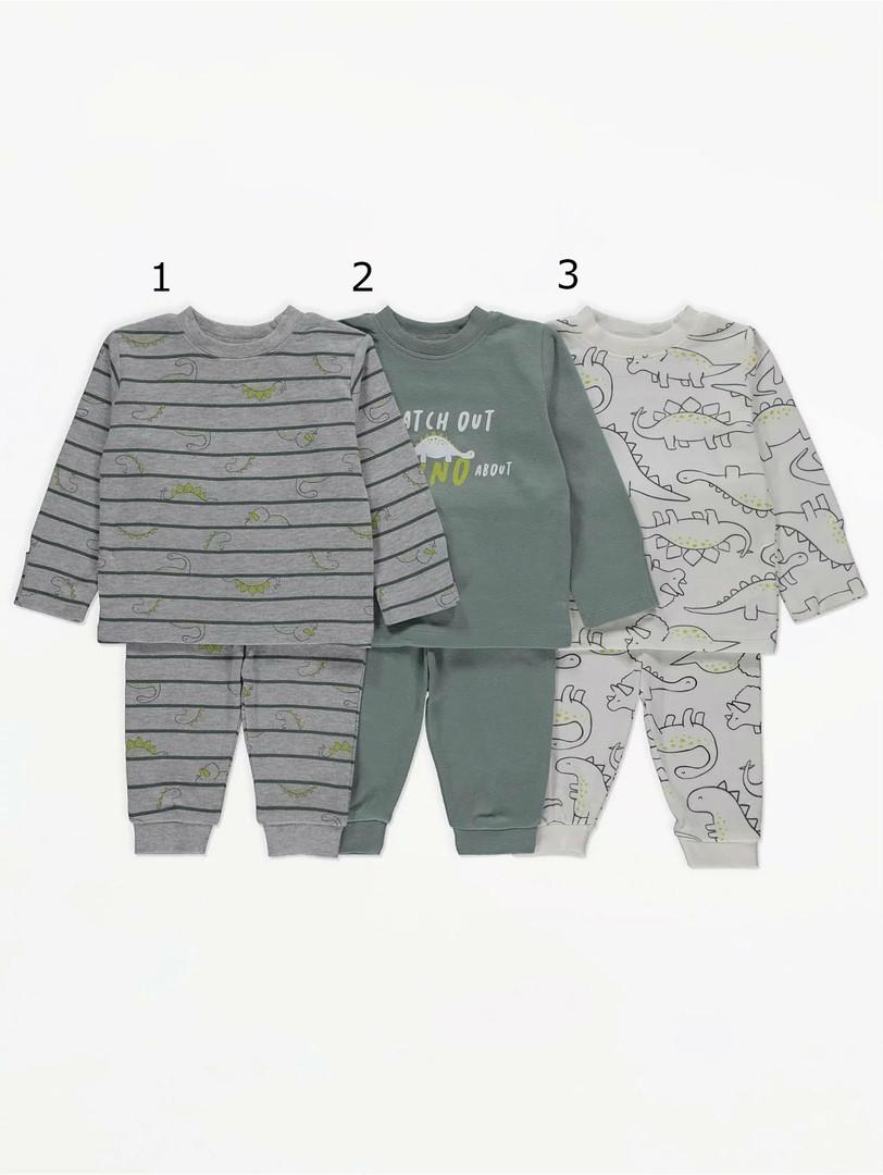 Дитячі трикотажні піжамки Динозаврики Джордж для хлопчика (поштучно)