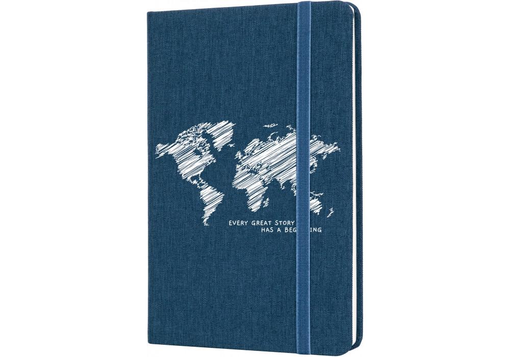 Записная книга А5 Optima Map текстильная обложка твердая