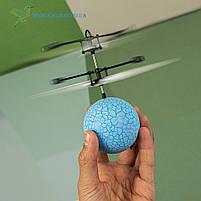 """Літаючий, світна куля, м'яч """"Flying Ball"""" JM-888 блакитний, фото 2"""