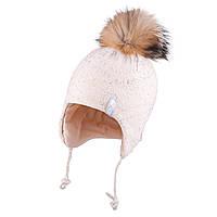 Зимняя шапка для девочки TuTu  арт. 3-005136( 50-54), фото 1