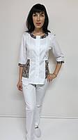 Женский медицинский костюм Лиза стрейч-коттон три четверти рукав, фото 1