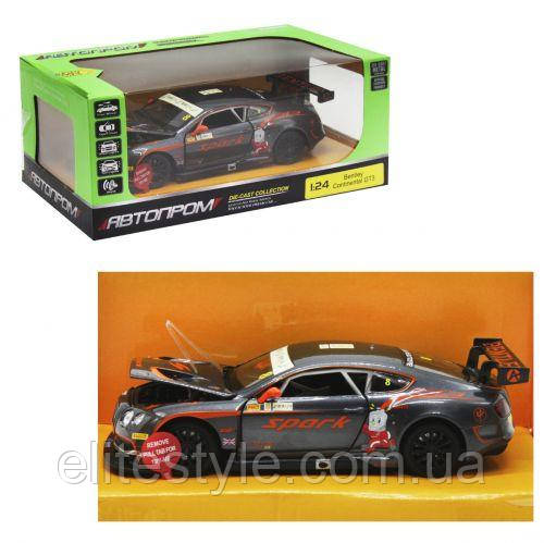 "ЧП190412 [68267A] Машина метал 68267A(12шт/2) ""АВТОПРОМ"",1:24 ""Bentley Continental GT3 Concept"","