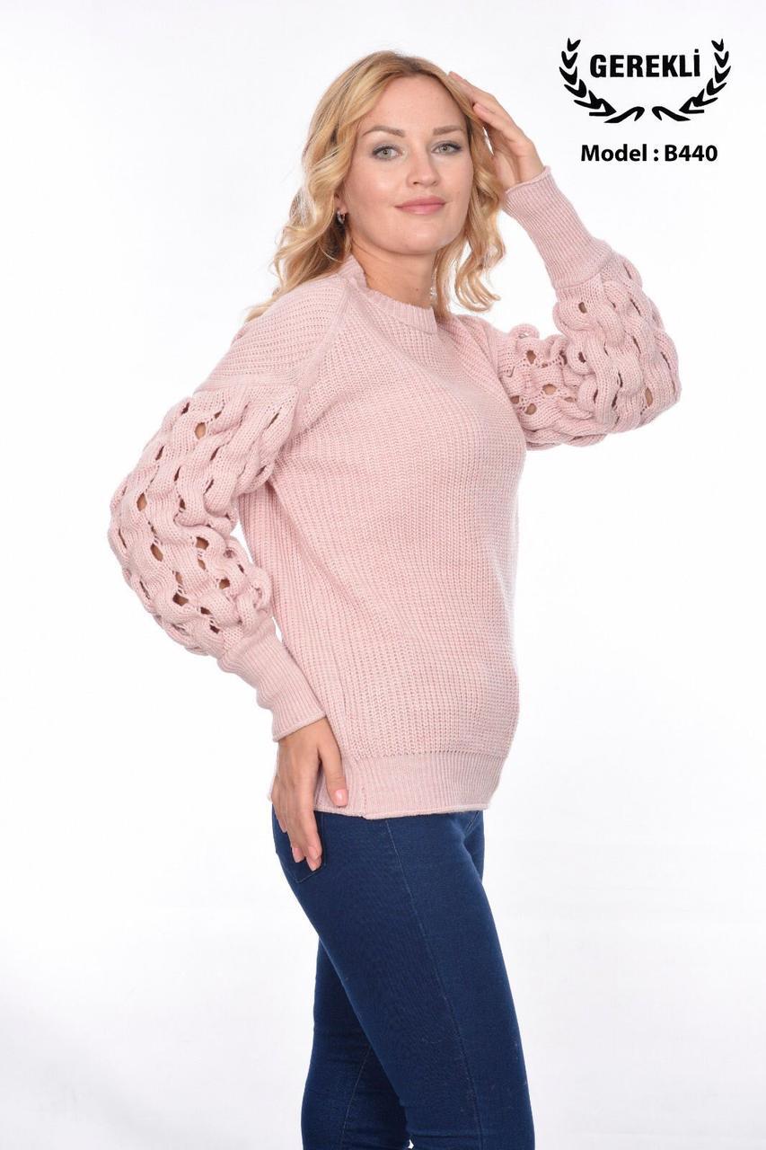 Женский свитер с красивыми рукавами Gerekli 440 (в расцветках 42-46)