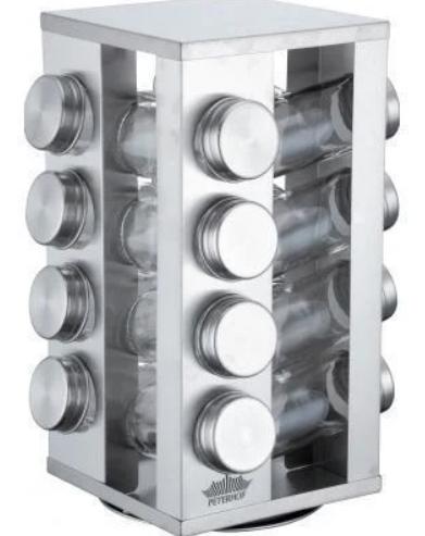 Набор баночек для специй Benson BN-175 из 16 сосудов   спецовник 16 шт на подставке