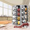 Набор баночек для специй Benson BN-175 из 16 сосудов   спецовник 16 шт на подставке, фото 3