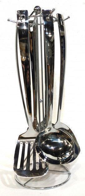 Кухонный набор из 7 предметов Benson BN-453 | лопатка | вилка для мяса | половник | шумовка