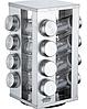 Набор баночек для специй Benson BN-175 из 16 сосудов | спецовник 16 шт на подставке