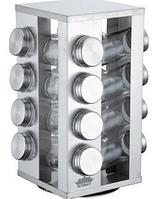 Набор баночек для специй Benson BN-175 из 16 сосудов | спецовник 16 шт на подставке, фото 1