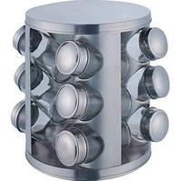 Набор баночек для специй Benson BN-176 из 12 сосудов | спецовник 12 шт на подставке, фото 1