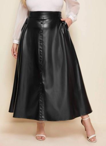 Женская юбка больших размеров черная